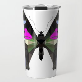Butterfly black and pink Geometric Travel Mug