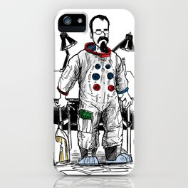 astronaut frank and drawing board... iPhone Case
