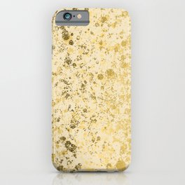 Almond Oil and Gold Patina Design iPhone Case