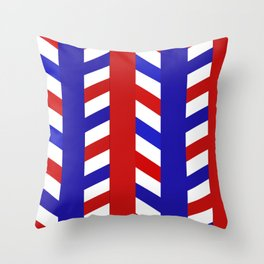 Striped Red Blue Pattern Throw Pillow