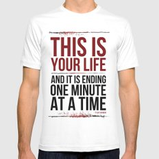 Fight Club - This is Your Life... LARGE Mens Fitted Tee White