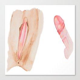female & male Canvas Print