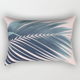 Palm Leaf Blush Vibes #1 #tropical #decor #art #society6 Rectangular Pillow