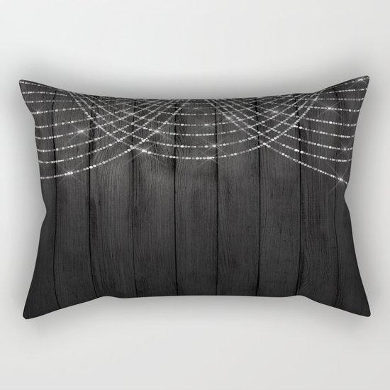 Fairy Lights on Wood 03 Rectangular Pillow