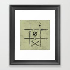 Noughts & Crossbones Framed Art Print