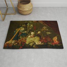 "Jan Davidsz de Heem ""Sumptuous Fruit Still Life with Jewellery Box"" Rug"