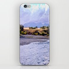Camping on the Yellowstone River iPhone & iPod Skin