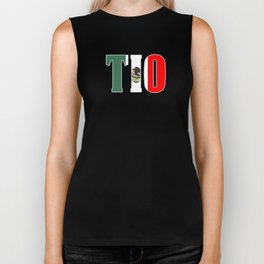 Tio Gift Mexican Design Mexican Flag Design For Mexican Pride Outlined Biker Tank