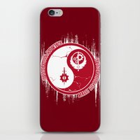 fallout iPhone & iPod Skins featuring Opposing Fallout by Morisato