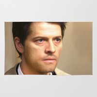 castiel Area & Throw Rugs featuring Castiel by MishaHead