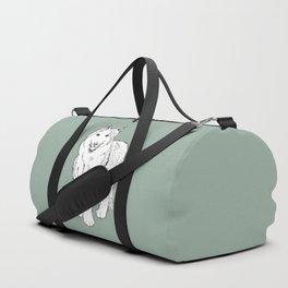 Sketch of siberian malamute Duffle Bag