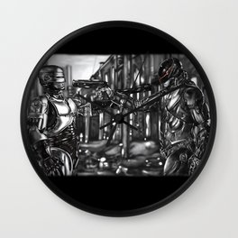 Robocop 1987 v 2014 Wall Clock