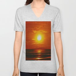 Golden Waters... Unisex V-Neck
