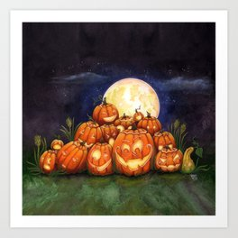 Pumpkin Palooza Art Print