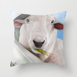 Mouthful Throw Pillow