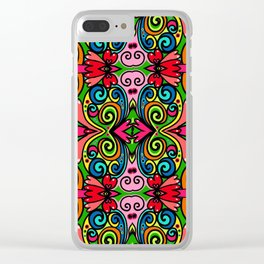 PATTERN-40 Clear iPhone Case
