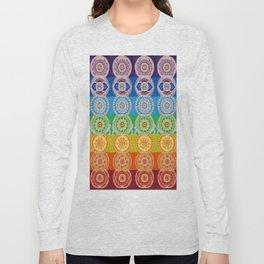 SEVEN CHAKRA SYMBOLS OF HEALING ART Long Sleeve T-shirt
