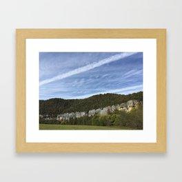 Steel Creek Bluffs Framed Art Print