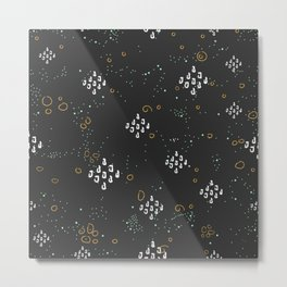 Seamless Pattern with Doodles and Dots Metal Print