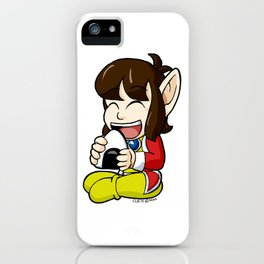 Alex Kidd with Riceball iPhone Case