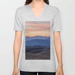 Sunset in the mountains Unisex V-Neck