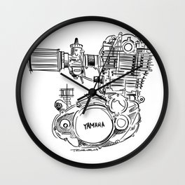 Yamaha SR500 Motor Sketch Wall Clock