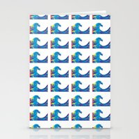 hokusai Stationery Cards featuring Hokusai Rainbow_Bs by FACTORIE