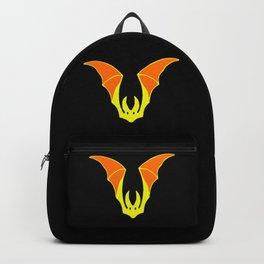Yellow Halloween Bat Backpack