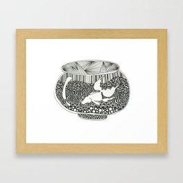 Fish Bowl Framed Art Print