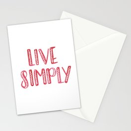 Live Simply Stationery Cards