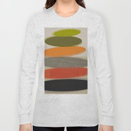Mid-Century Modern Ovals Abstract Long Sleeve T-shirt