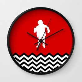 Black Lodge Dreams: Man From Another Place (Twin Peaks) Wall Clock