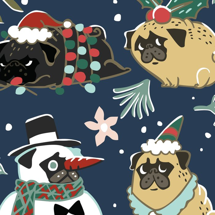 Christmas Pugs Leggings