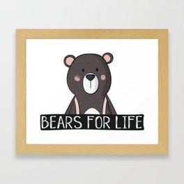 Bears For Life Framed Art Print