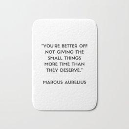 MARCUS AURELIUS  Stoic Philosophy Quote Bath Mat