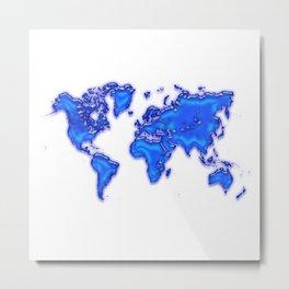 Plastic world map Metal Print