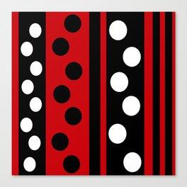 Stripes & Dots Canvas Print