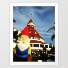 Gnorman visits the Hotel Del Coronado Art Print