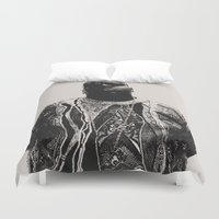 notorious big Duvet Covers featuring Notorious by Ricca Design Co.