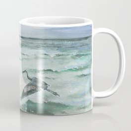 Anna Maria Island Florida Seascape with Heron Coffee Mug