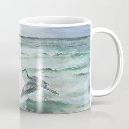 Anna Maria Island Florida Seascape with Heron Coffee Mug
