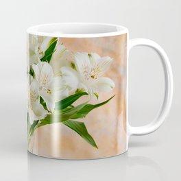 Alstroemeria Bouquet On Canvas Coffee Mug