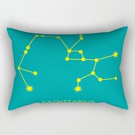 SAGITTARIUS (YELLOW-TEAL STAR SIGN) Rectangular Pillow