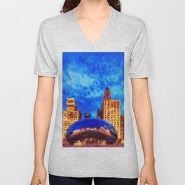 Chicago Panorama Unisex V-Neck