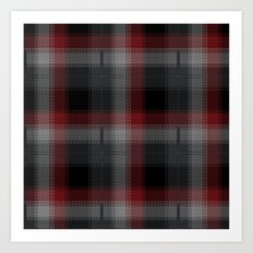 Black, Red, Lumberjack Plaid Art Print