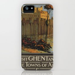Vintage poster - Ghent iPhone Case