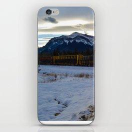 CN rolling through the Rockies, Near Brule Alberta iPhone Skin
