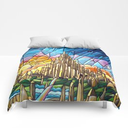 Asgard stained glass style Comforters