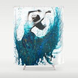 Ocean Gem Dance Shower Curtain
