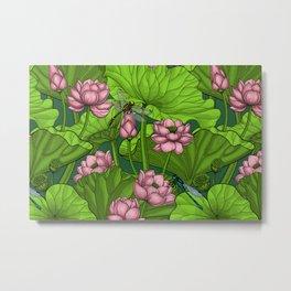 Lotus garden Metal Print